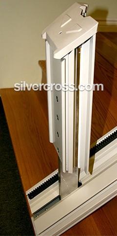 Stair Lift Flipup Rail | Silver Cross
