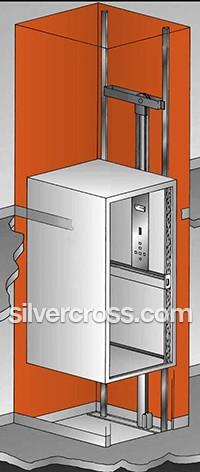 Infinity Home Elevator Hoistway Savaria | Silver Cross